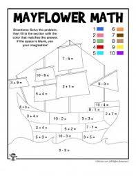 thanksgiving math coloring worksheets woo jr activities