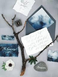 Small Invitation Cards Indigo Blue Nature Inspired Wedding Inspiration From Crimea Via