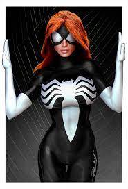 artstation spider woman black suit ryan bailey