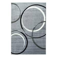 Wohnzimmer Hoch Modern Teppich Mit Kreismuster Moda 1062 Grau Flachflor Kurzflor