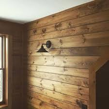 white pine shiplap paneling custom stained rustic fall
