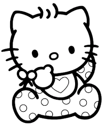 baby kitty coloring pages print cartoon coloring