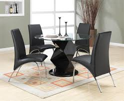 Dining Room Sets Las Vegas by Coaster Ophelia Round Glass Top Dining Table W Zigzag Pedestal