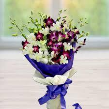 orchid bouquet white purple orchid bouquet orchid flower delivery shopcrazzy
