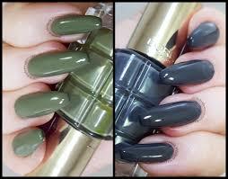 some weird sin l u0027oréal gris decadent and vert absinthe