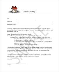 eviction warning letter template letter idea 2018