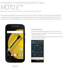 android software versions verizon s prepaid version of the moto e second generation