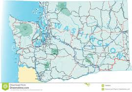 Map Of The State Of Washington by Washington State Road Map Stock Photos Image 7698633