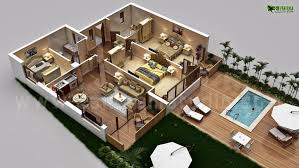 luxury house plans with pictures 3d luxurious residential floor plan yantram architectural design