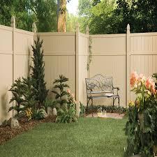 shop gatehouse arborley sand flat top privacy vinyl fence panel
