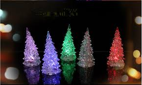pretty decoration tree color changing led desk