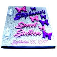 sweet 16 sign in book butterfly sweet 16 memory sign in book