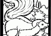 skunk coloring pages wallpaper download cucumberpress