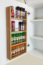 Spice Rack Kitchen Cabinet 4 Tier Solid Oak Spice Rack Kitchen Back Of Door Side Of
