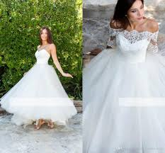 discount vintage a line wedding dresses sleeves ankle length
