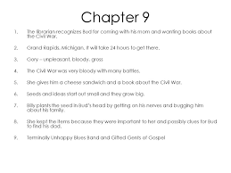 bud not buddy chapters ppt