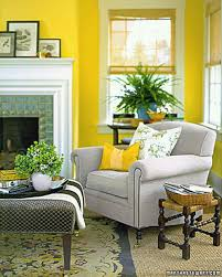 yellow walls living room interior decor shenra com