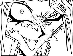 crazy yu gi oh yugioh character coloring page wecoloringpage