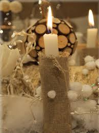 Christmas Table Decoration Ideas With Candles by Eco Christmas Decorating With Burlap And Sisal Twine