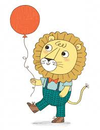 kasia dudziuk illustration and design birthday card daddy lion