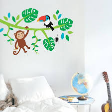 wall stickers for baby boy room white color nursery original jungle friends wall stickers
