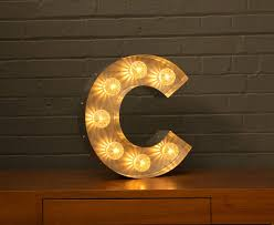 marquee numbers with lights light up marquee bulb letters c by goodwin goodwin