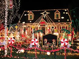 Best Decorated Homes For Christmas Home Christmas Lights Blue Blue Christmas Trees Lights Design