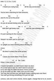 Blind Chords No Rain Blind Melon Guitar Chord Chart With Lyrics Http Www
