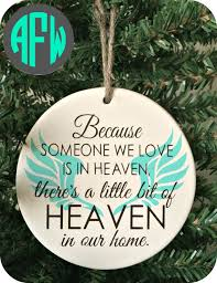 infant loss christmas ornaments digital cut file because someone we is in by afwifecreations
