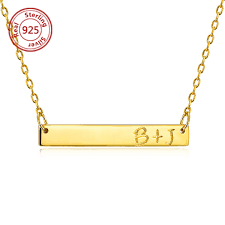 necklace with name engraved engravable name bar necklace engravable name bar necklace