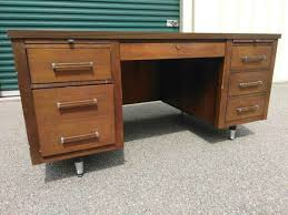 vintage mcm tanker desk made by alma in nc for sale in raleigh