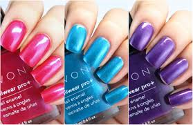 avon electric shades collection nailwear pro nail enamel swatches