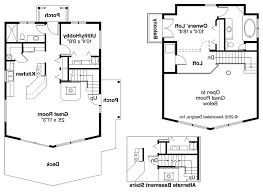 frame cabin floor plans loft home building plans 69118