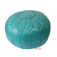 Beanbag Ottoman Moroccan Pouf Ottoman Stuffed In The Uk Genuine Turquoise Leather