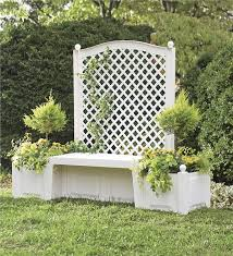 self watering bench trellis planter garden furniture