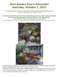 native plants for rain gardens reminder it u0027s an edmonds kind of rain garden day on oct 7 my