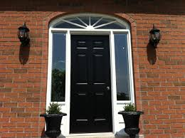 front door with sidelights and transom adjust therma tru front