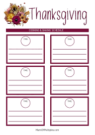 free thanksgiving planner mami of multiples