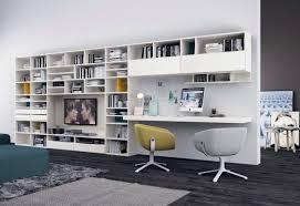 bureau bibliothèque intégré bureau à domicile moderne aménagement et décoration salons