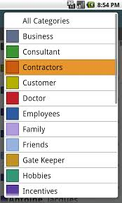 dejaoffice for android how to assign categories to your android contacts and calendar