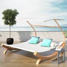Wooden Outdoor Chaise Lounge Chairs Wood Outdoor Lounge Chairs You U0027ll Love Wayfair