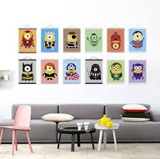 anime super hero minion avenger pop movie a4 poster print kawaii