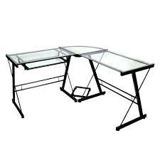 computer desk glass metal desk computer desk metal frame glass metal black corner computer