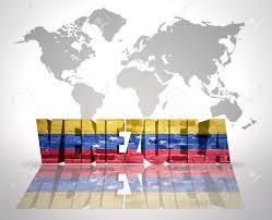 Venezuela World Map by Word Venezuela With Venezuelan Flag On A World Map Background