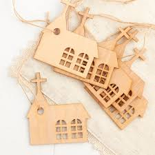unfinished wood church cutout ornaments wood cutouts