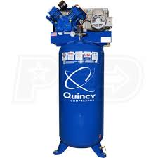 quincy 2v41c60vc qt pro 5 hp 60 gallon two stage air compressor