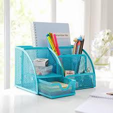 Pencil Holder For Desk Pen Holder Desk Tidy Organiser Set Storage Iron Box