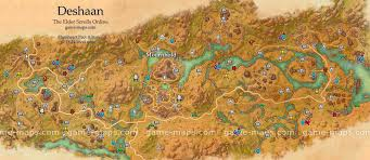Khenarthi S Roost Treasure Map 1 Deshaan Zone Map Mournhold Rich And Fertile Plains Region In