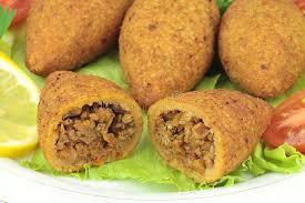 cuisine turc cuisine bulgur coated meatballs icli kofte stock photo