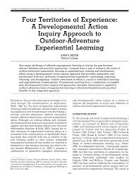 four territories of experience a developmental action inquiry